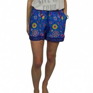 prema blue patterned shorts
